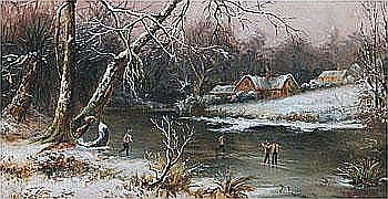 Art Work by: Thomas Reginald Attwood : On the Ice