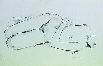 Art Work by: Roy Dalgarno  : Nude Study