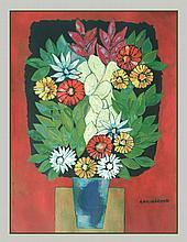 Oswaldo  Guayasamin (Ecuadorian 1919-1999) Flower