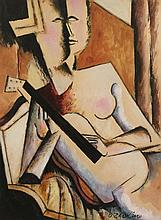 Ossip Zadkine (Russian 1980-1967) The Guitar