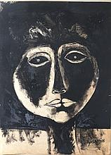 Painting after Oswaldo  Guayasamin (Ecuadorian 1919-1999) (ATTRB)