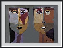 after Oswaldo Guayasamin (Ecuadorian 1919-1999) (ATTRB)