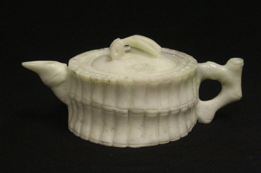 Fine Chinese jadeite carved teapot