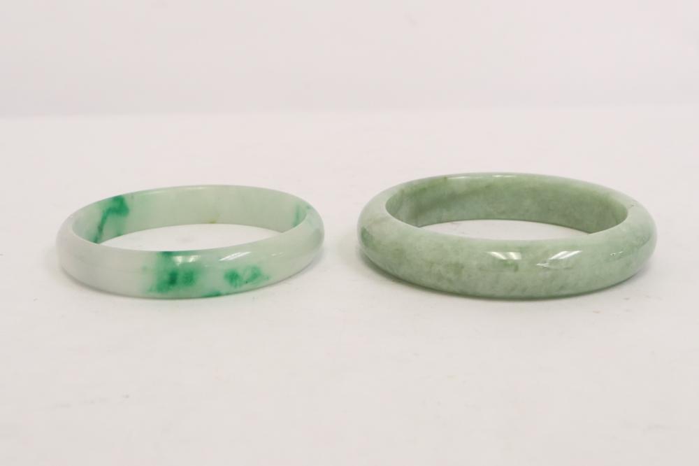 2 Chinese jadeite bangles