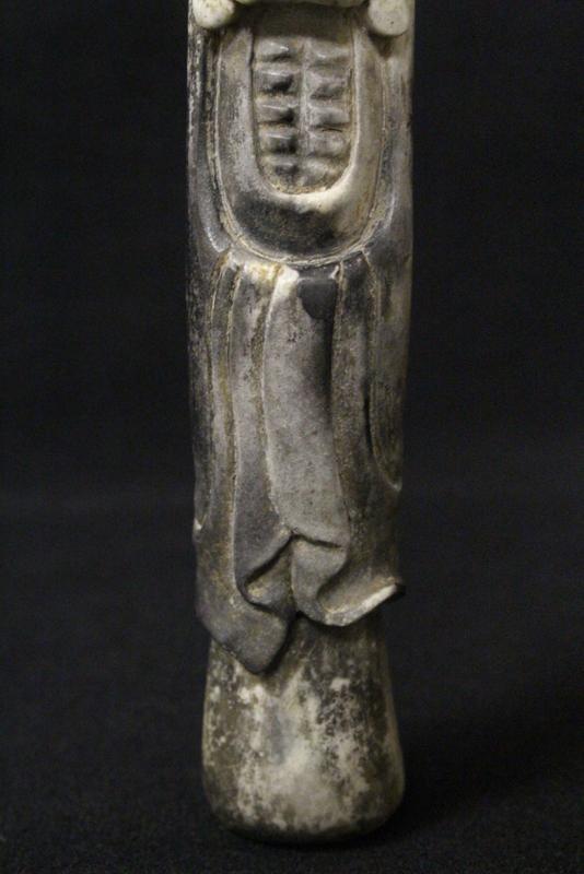 Shoushan stone carving depicting shoulao