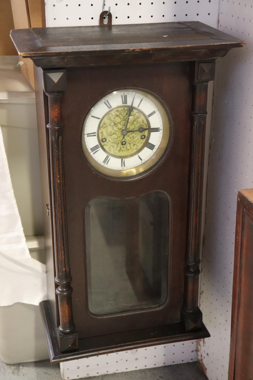 Antique key-wind wall clock