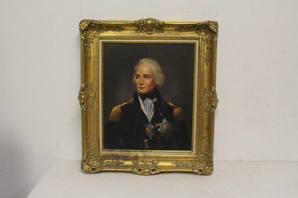 """Oil on canvas """"portrait of general"""""""