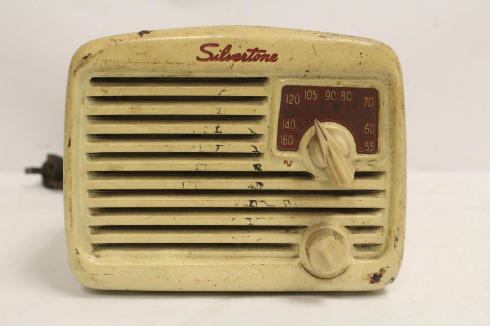 A vintage radio by Silvertone