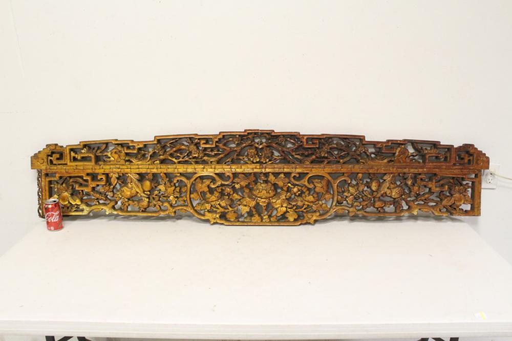 A beautiful Chinese 19th century gilt wood panel