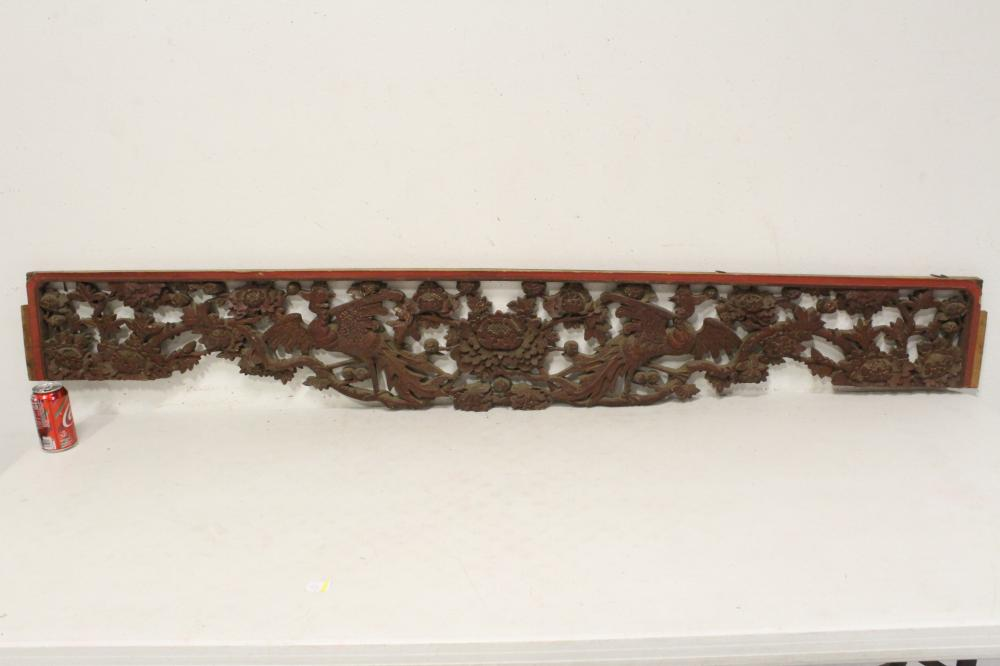 A beautiful Chinese antique painted wall panel