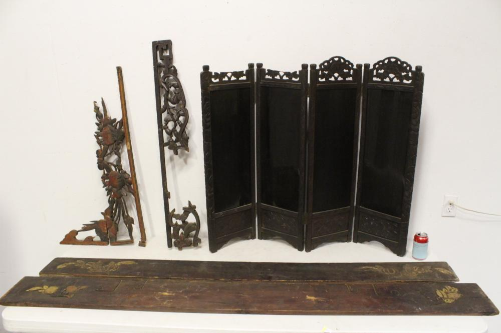 Lot of misc. antique wood carvings