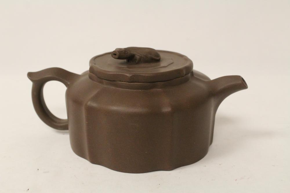 Chinese Yixing teapot in melon motif