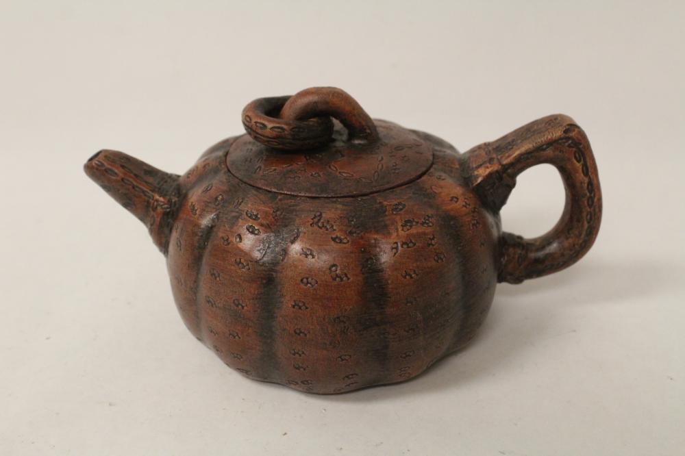 Chinese melon shape Yixing teapot