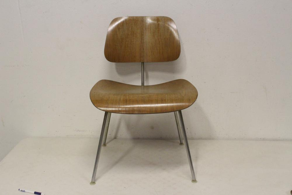 An early Charles Eames molded lounge chair