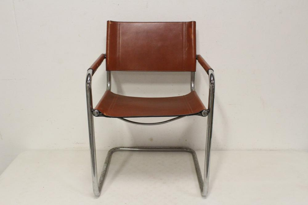 A modern leather director chair