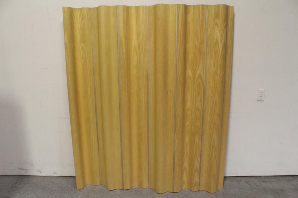 Charles & Ray Eames molded plywood & canvas room divider