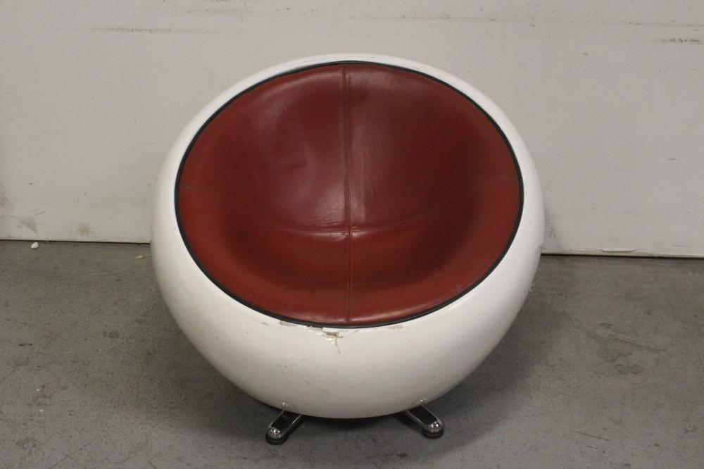 aluminum based fiber glass and leather swivel chair