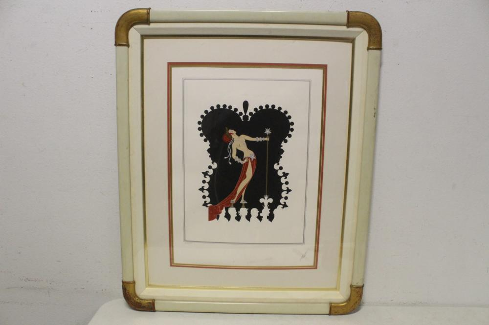 A pencil signed etching by Erte, edition 229/350
