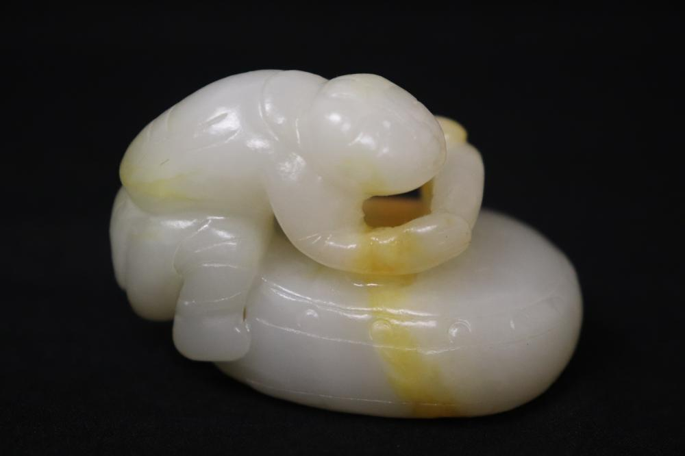 A fine Chinese white jade carved ornament