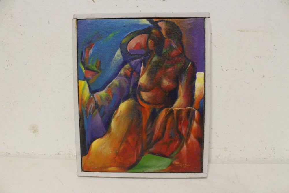 """Oil on canvas """"seduccion"""" by Hector Estrada"""