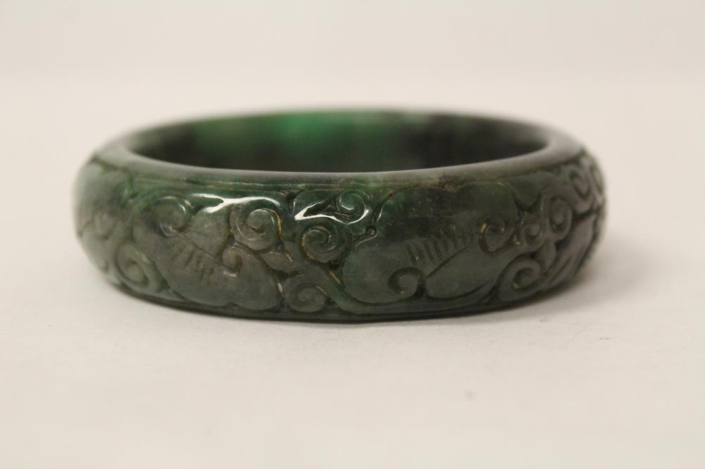Chinese jadeite like stone bangle