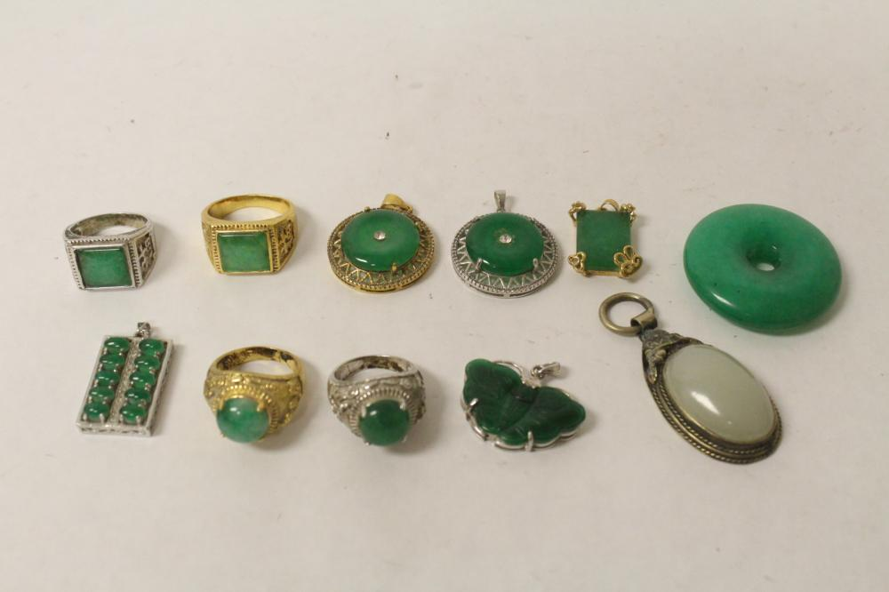 11 rings and pendant