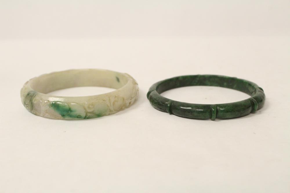 2 jadeite like bangles