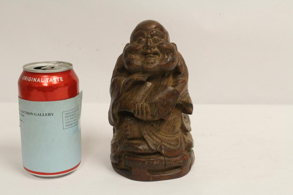 Chinese antique bamboo carved figure
