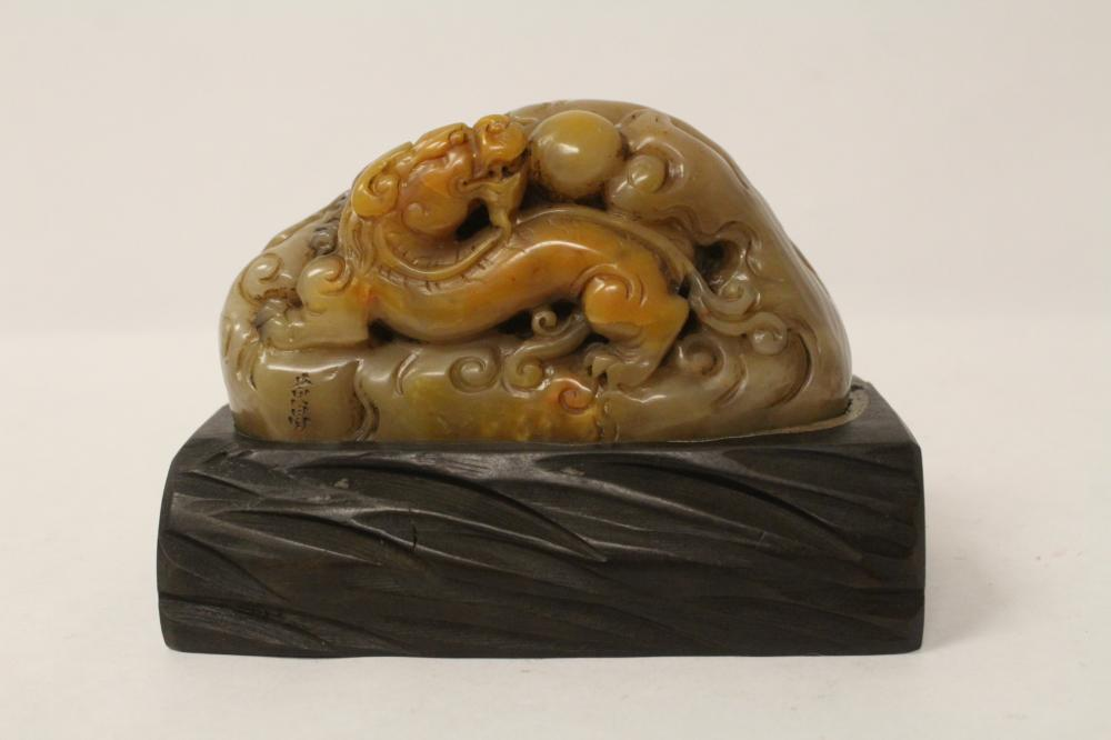 A fine Chinese shoushan stone seal