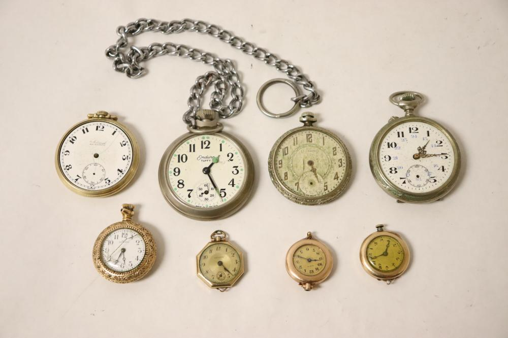 4 pocket watches & 4 pendant watches