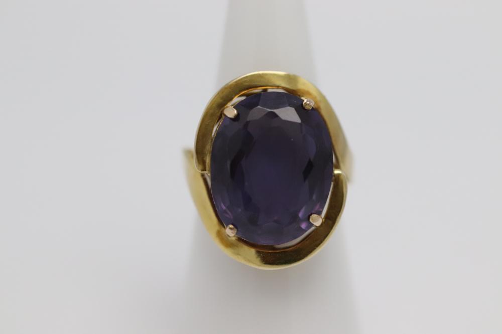 14K Y/G amethyst ring