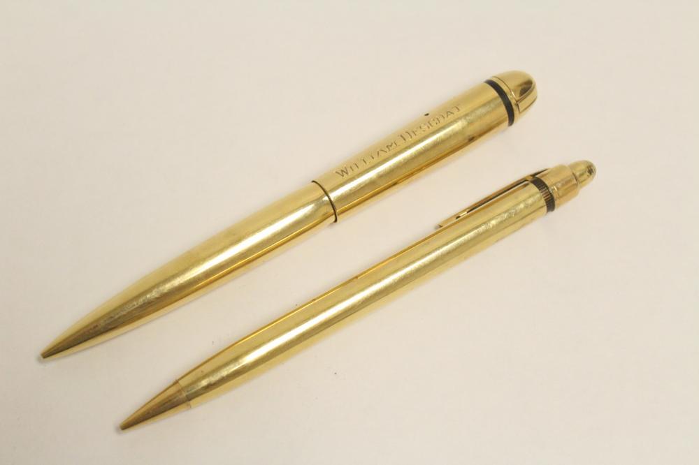 Pair solid 14K pen & pencil set by Eversharp
