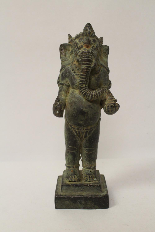 Antique Indian bronze sculpture of ganesha