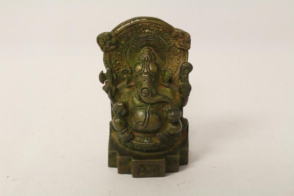 A fine Indian bronze sculpture of ganesha