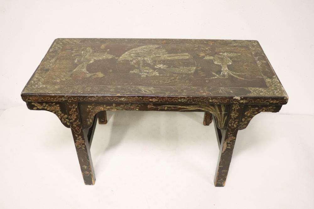 Chinese 18th/19th century painted wood low table