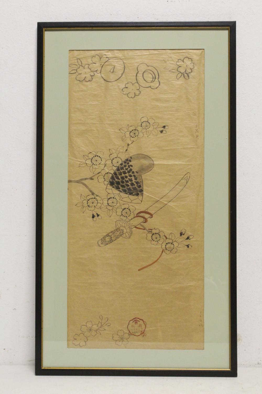 Japanese framed watercolor