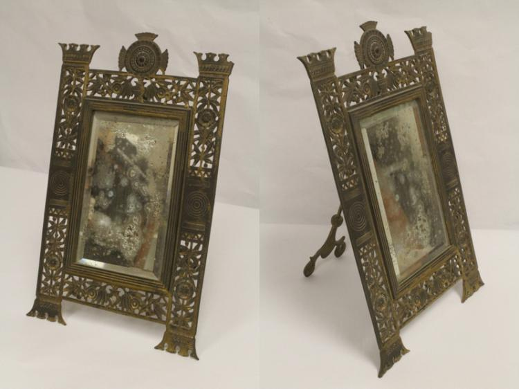 Gilt Metal Mirror By Bradley Hubbard