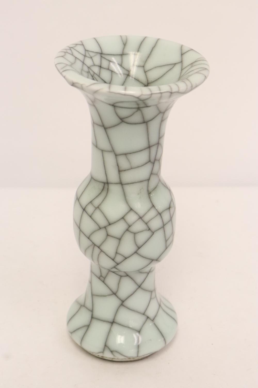 2 Song style crackleware vases