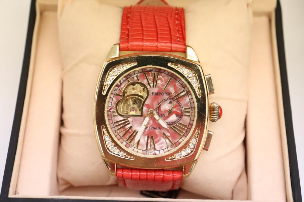 12 new in box Italian Emporio man's wrist watches