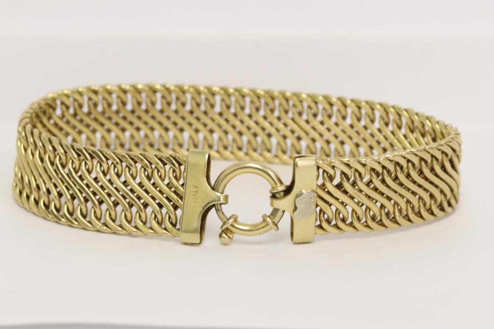 14K Y/G Italian bracelet with maker's mark