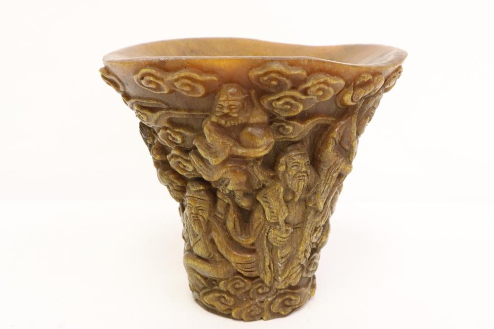 A Chinese horn like libation cup