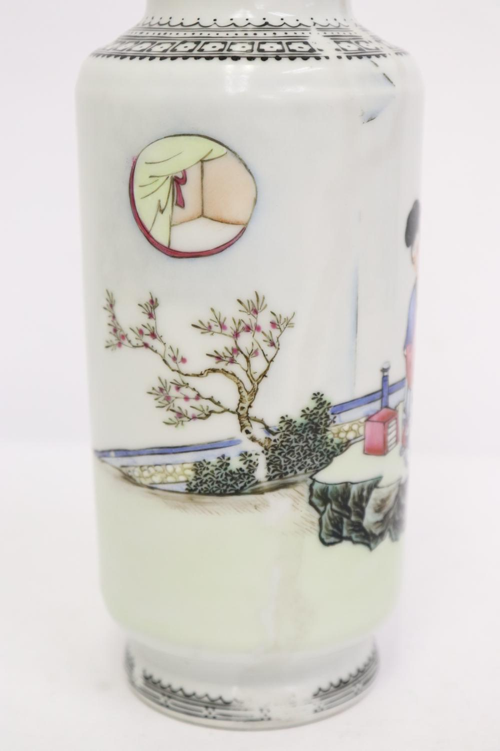 2 beautiful Chinese famille rose vases