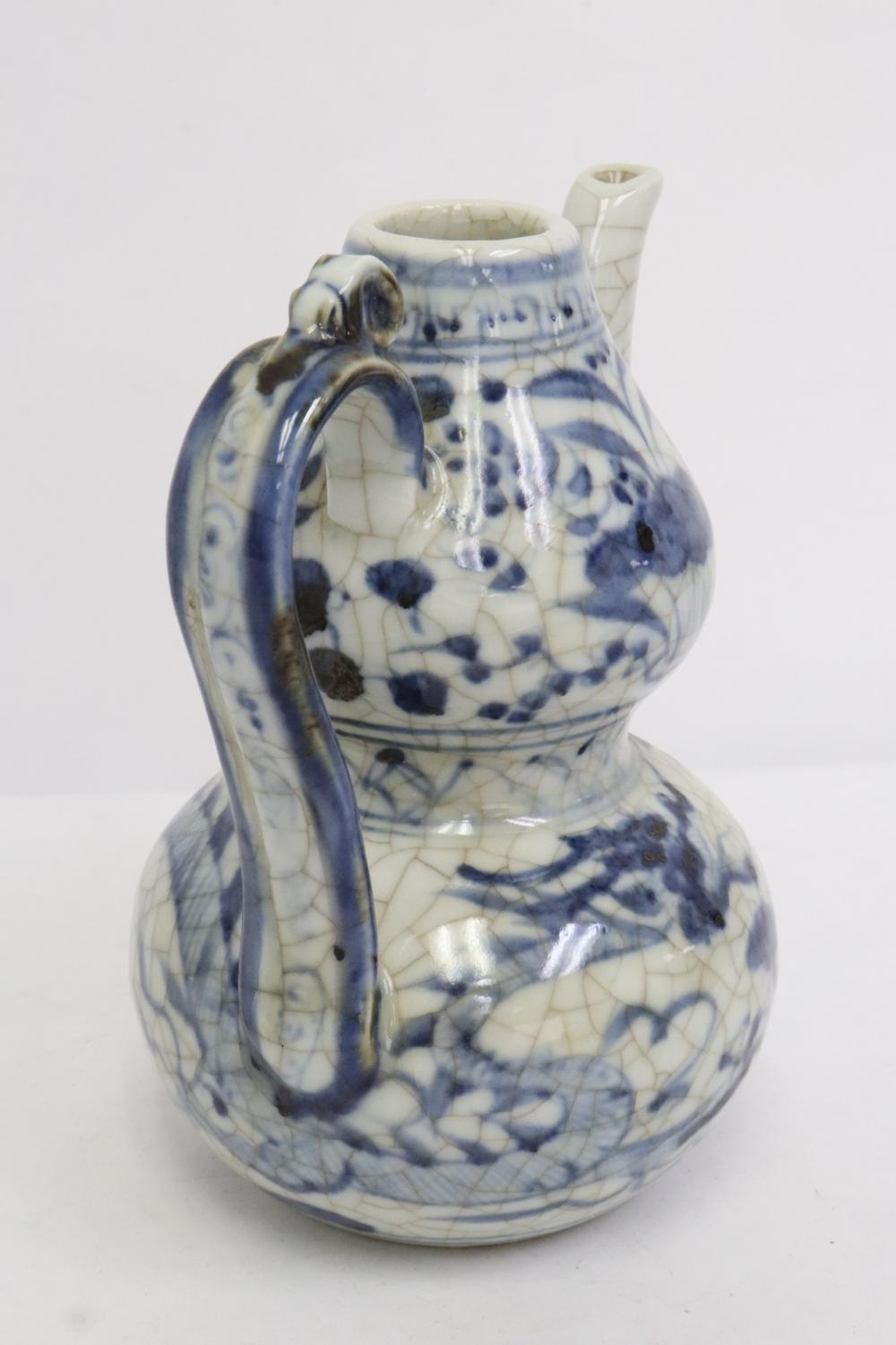 2 blue and white pieces