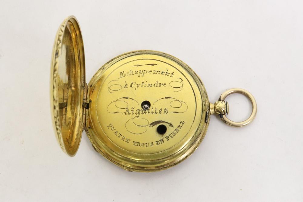 18th/19th c. 18K European keywind pocket watch