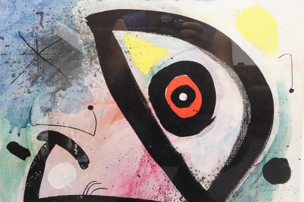 2 framed prints of Joan Miro