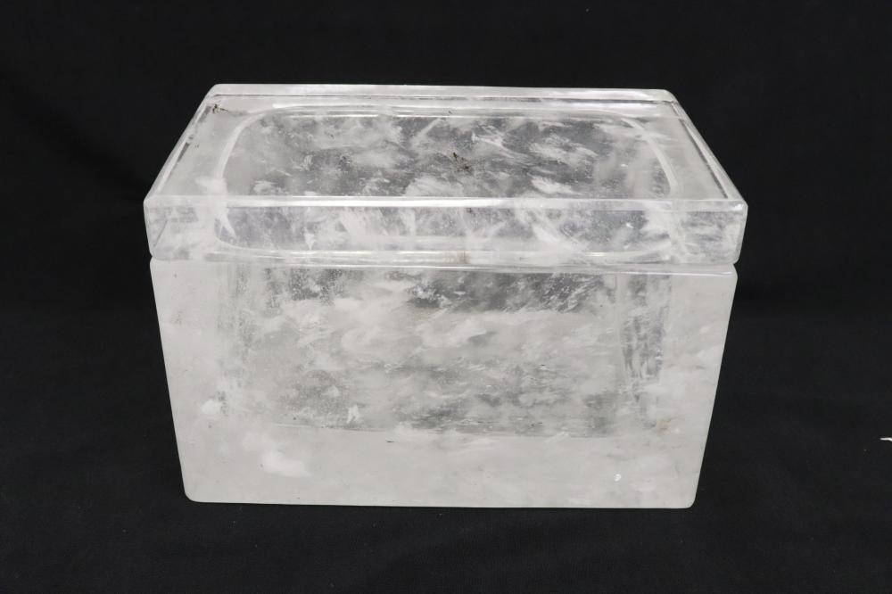 Fine crystal rectangular box by Robert Kuo
