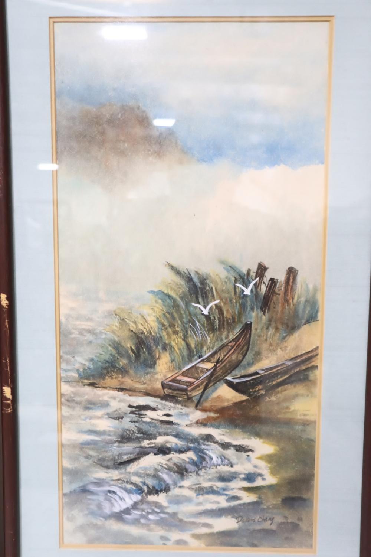 2 framed watercolor