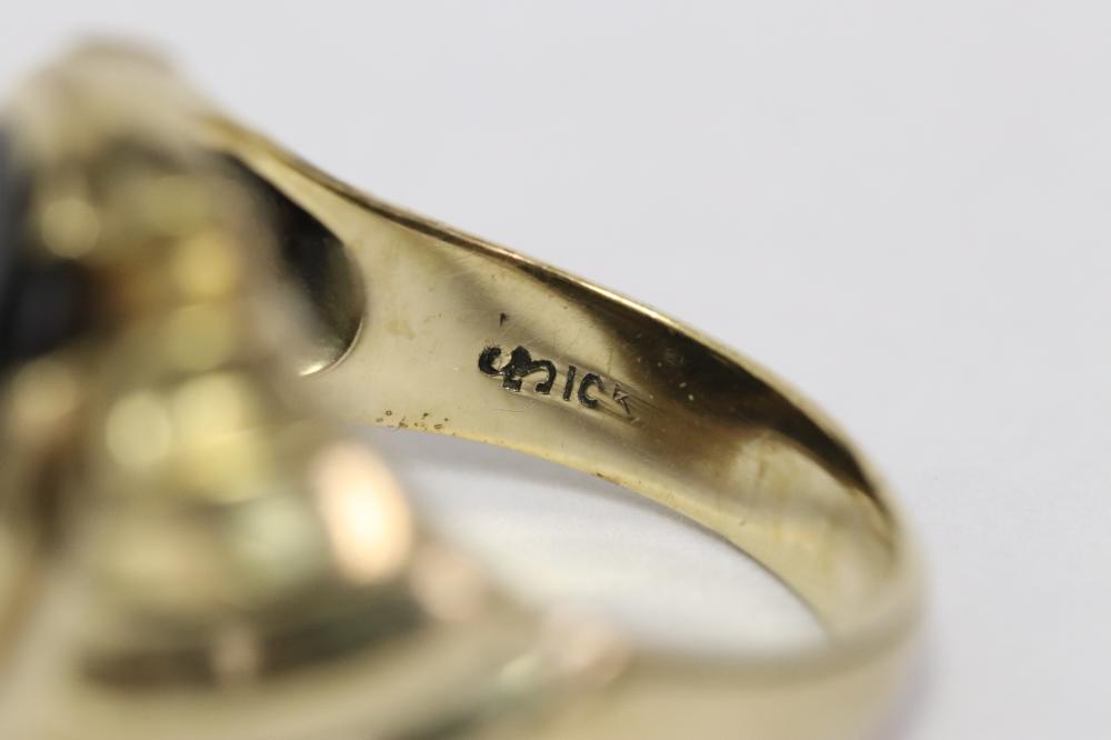 10K rose gold diamond ring
