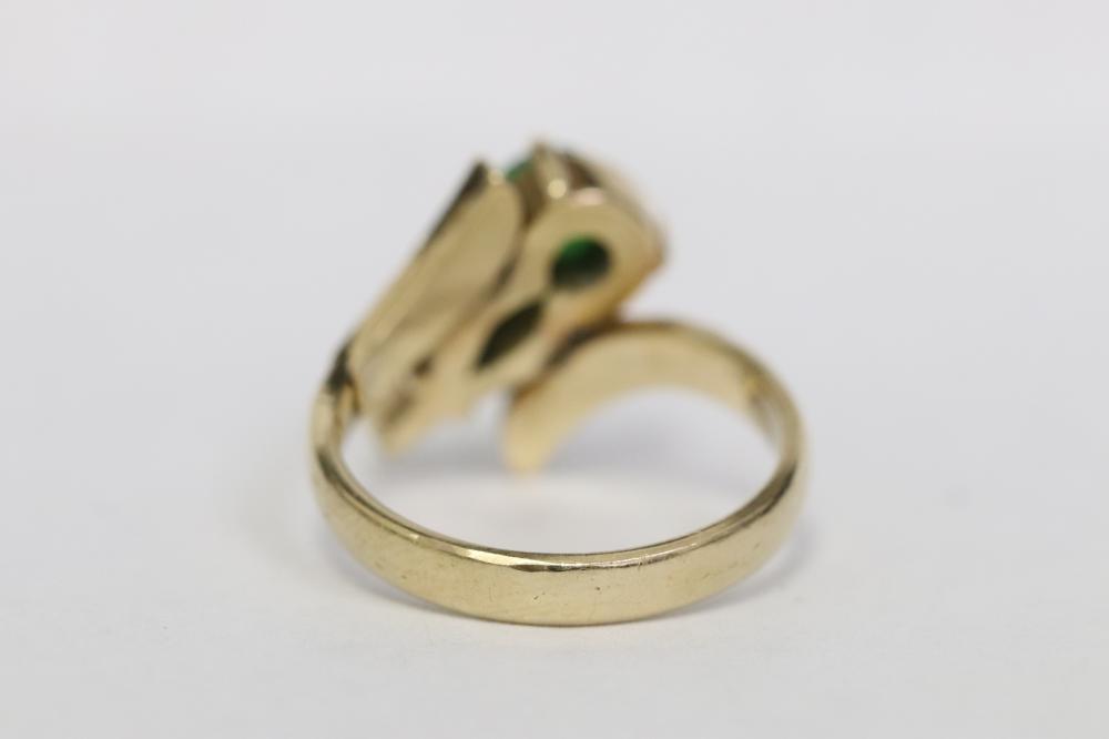 14K rose gold jadeite ring