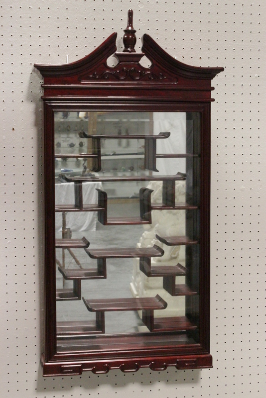 Chinese rosewood wall hanging display case